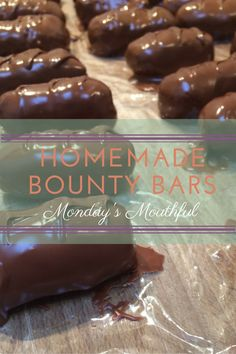 Monday's Mouthful - Homemade Bounty Bars! - Oh dear, DEER!