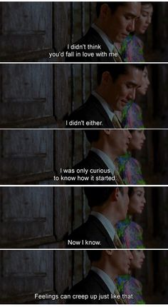In the Mood for Love, Kar Wai Wong (2000) oh, this movie... v.