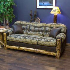 Aspen Upholstered Sleeper Sofa- Made in USA! Rustic Cabin Furniture
