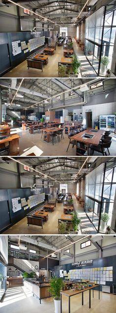 [No.176 외식중학교] 140평 공장 리모델링 삼겹살집 인테리어, korean steak restaurant interior, factory remodeling