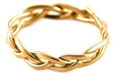 Braided ring....what I've always wanted (if I ever get married!)...Ecc 4:12