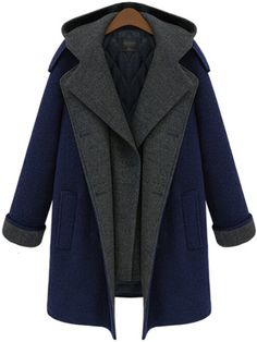 Shop Blue Hooded Buttons Pockets Long Coat online. SheIn offers Blue Hooded Buttons Pockets Long Coat & more to fit your fashionable needs.