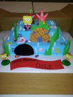 sponge bob cake i made for a very cute little boy!