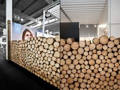 [matéria-prima como elemento compositivo] ODLO trade fair stand 2011 by Laborrotwang, Friedrichshafen Germany exhibit design Display Design, Booth Design, Wall Design, Banner Design, Interior Architecture, Interior And Exterior, Interior Design, Commercial Design, Commercial Interiors