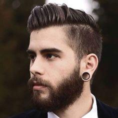 Classy Men's Hairstyles - Long Side Swept Hair