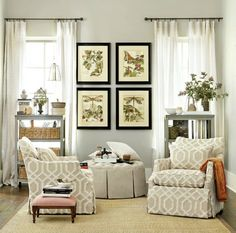 A pair of Larkin Swivel Gliders turn this little nook into the ideal spot for kicking back with a good book.
