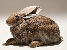 Hare Sculptures - Clay Animal Sculptures by Nick Mackman