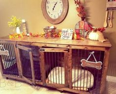 No more ugly wire crates - Choose B&B luxury wooden dog crate furniture for your home. Check out our designer custom kennels and Doggie Dens® today! Wooden Dog Crate, Wooden Dog Kennels, Diy Dog Crate, Crate Side Table, Crate Bench, Side Tables, Dog Crate Furniture, Furniture Ads, Cheap Furniture