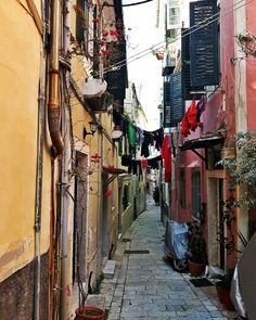 Old town, corfu, ionian island,greece