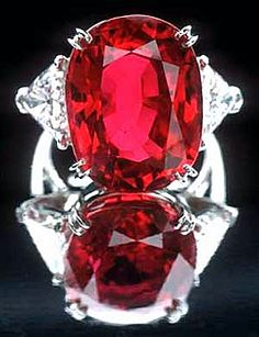 23.1 Carat Burmese Ruby (&) Diamond Ring, Smithsonian, Wash. DC. Gift from Peter Buck, founder of the subway sandwich chain in honor of his wife.