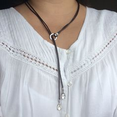Crystal Leather Necklace Leather Necklace, Crystals, Silver, Photography, Jewelry, Products, Fashion, Leather Collar, Moda