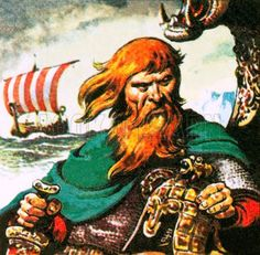 """Erik Thorvaldsson, known as Erik the Red was a Norwegian Viking, remembered in medieval and Icelandic saga sources as having founded the first Norse settlement in Greenland. The Icelandic tradition indicates that he was born in the Jæren district of Rogaland, Norway, as the son of Þorvald Ásvaldsson, he therefore also appears, patronymically, as Erik Thorvaldsson. The appellation """"the Red"""" most likely refers to his hair color and the color of his beard. Leif Erikson, was Erik's son."""