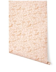 Rifle Paper Company wallpaper! Safari (Blush) This would be cute for a kids room