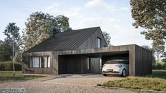 Dom Ki-House we Wrocławiu - Tamizo Architects Mateusz Stolarski Tamizo Architects, Modern Architecture House, Boconcept, Shed, Outdoor Structures, Patio, The Originals, Two Story Houses, Projects