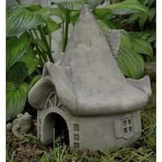 Totally cute, but too expensive. Summerbridge Toad House Garden Statue $110.98