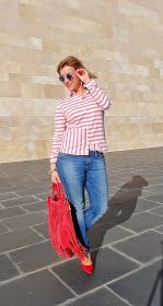 Angycloset : RED AND NAVY #kissmylook
