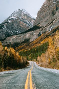 Beautiful fall roads (Icefields Parkway, Banff & Jasper, Alberta) by Nick Verbelchuk cr. Landscape Photography Tips, Landscape Photos, Nature Photography, Travel Photography, Beautiful Roads, Beautiful Places, Mountain Landscape, Urban Landscape, Cool Landscapes