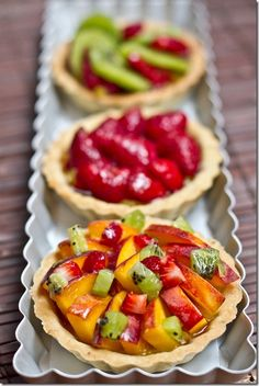 Vegan Fruit Tarts (Ohsheglows) -- eyeing the vegan custard recipe which I am thinking of transforming into a cardamom spiced cream topping for chocolate cake. If I do make a tart I will use an olive oil crust recipe.