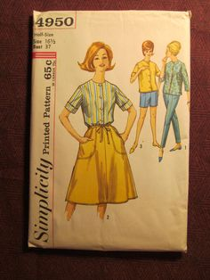Uncut 1960's Simplicity Sewing Pattern 4950 Size by EarthToMarrs, $12.00
