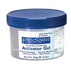 Proclaim Curl & Wave Conditioning Activator Gel...Defines curls and waves and reduces frizz and fly-aways. Formulated for professional stylists for long-lasting professional results. Adds maximum body and hold without causing build-up or flaking. Replenishes hair's natural moisture to increase shine and hair looks healthier.
