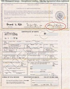 Pin by Foreign Documents Express on New York birth certificates ...