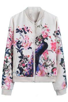 Stylish Floral Bomber Jacket