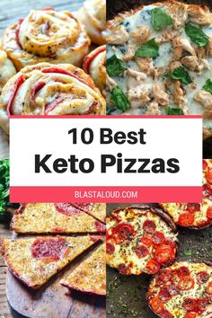 No need to give up on pizza just because you're on the keto diet. These low carb keto pizza recipes will satisfy all your pizza cravings! All these keto pizzas use either a keto pizza crust or are crustless - perfect for a low carb diet! #keto #ketopizza