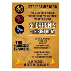 The Hunger Games Movie Inspired- Custom Birthday Invitation review at Kaboodle