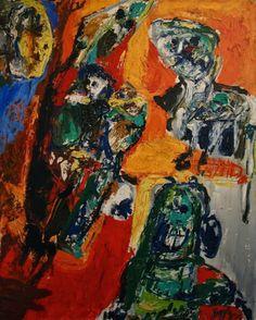 Asger Jorn (Danish, 1914-1973), Le passage des oiseaux, 1958. Oil on canvas, 100 x 81 cm.