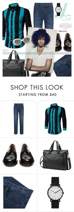 """Newchic 06: Jazz"" by bugatti-veyron ❤ liked on Polyvore featuring Vetements, Skagen, Acne Studios, men's fashion and menswear"