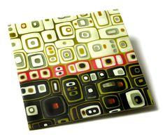 By Kim Brill. As simple as this #fused #glass technique is, I still love it.  www.FusedArtGlassByKimBrill.com