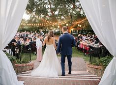 bride and groom entering reception, draping at receptions, outdoor al fresco wedding Weddings at The Fairmont Sonoma Mission Inn http://www.fairmont.com/sonoma/meetings-weddings/weddings/