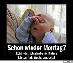 Was? Schon wieder Montag? | DEBESTE.de, Lustige Bilder, Sprüche ...