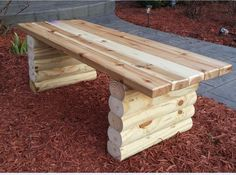 Picture of Easy Garden Bench - I would love to make these and place them throughout our property!