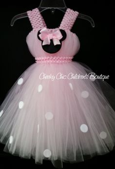 Discover thousands of images about Minnie Mouse Inspired Tutu Dress Gown por CheekyChicChildrens Princess Tutu Dresses, Baby Tutu Dresses, Little Girl Dresses, Baby Dress, Flower Girl Dresses, Baby Skirt, Long Dresses, Diy Tutu, Little Princess