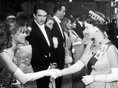 The queen greeted fellow Brit Julie Christie and American movie star Warren Beatty at the London premiere of Born Free in 1966. Beatty and Christie weren't dating yet, but not long after rubbing shoulders with royalty, the duo started a famous Hollywood romance that lasted several years.