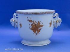 3949 Kosfejes herendi porcelán kaspó