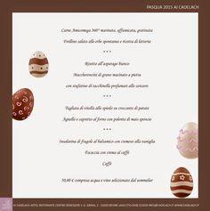 Cosa mangiamo a #Pasqua? Non mancano i sapori, i profumi e le storie di casa! #menu #pasqua2015 #cadelach #cucina #treviso #veneto http://www.cadelach.it/posts/menu-pasqua-2015-184.php