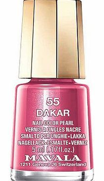 Mavala Mini Colour Nail Polish Dakar 5ML 10151554 16 Advantage card points. Mavala Mini Colour Nail Polish are perfect little pots of colour that wont dry out before you reach the bottom FREE Delivery on orders over 45 GBP. http://www.comparestoreprices.co.uk/nail-products/mavala-mini-colour-nail-polish-dakar-5ml-10151554.asp