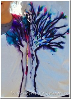 Tie Dye T Shirts with Sharpies