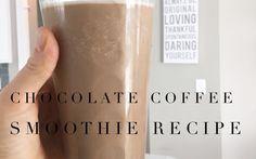 Chocolate Coffee Smoothie Recipe☕️