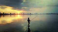Ha noi sunset view