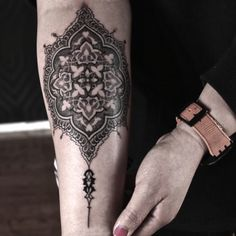 Cats- 2Spirit Tattoo #dotwork #forearm #mandala-like tattoo