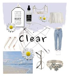 """""""Clear"""" by oh-so-my-style ❤ liked on Polyvore featuring Totes, Chanel, Little Barn Apothecary, ZeroUV, Sans Souci, The Ragged Priest, Sian Bostwick Jewellery, clear and Seethru"""