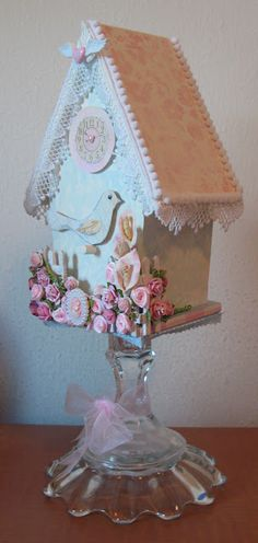 Girl's Paperie Altered Birdhouse