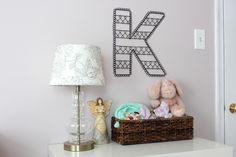 """Project Nursery - Wire Wall Letter """"K"""""""