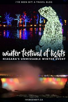 Looking for things to do in Niagara Falls in winter? You won't want to miss the Niagara Winter Festival of Lights! This incred. Winter Light Festival, Festival Lights, Christmas Travel, Holiday Travel, Christmas Markets, Visiting Niagara Falls, Canadian Travel, Canadian Food, Canada Destinations