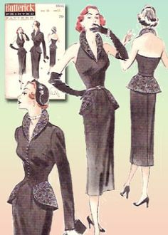 Butterick 5530 pattern from 1950