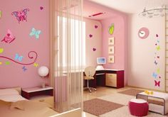 Pink and Purple Wall Stickers Design