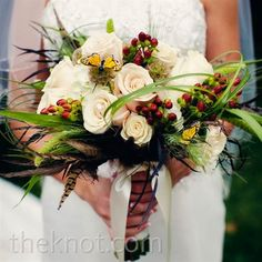 My wedding bouquet must have butterflies!